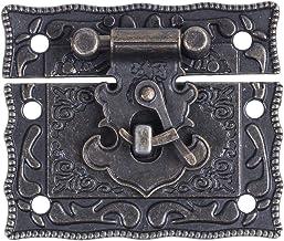 Haudang houten koffer borst Bo rechthoekige sluiting haaspe grendel brons