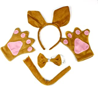 Petitebella Kangaroo Headband Bowtie Tail Gloves 4pc Adult Costume