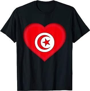I Love Tunisia | Tunisian Flag Heart Outfit T-Shirt