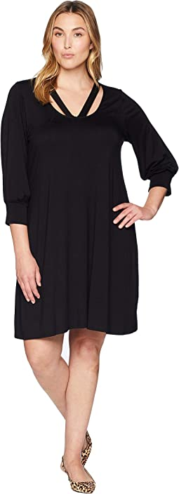 Plus Size Cross-Front Taylor Dress