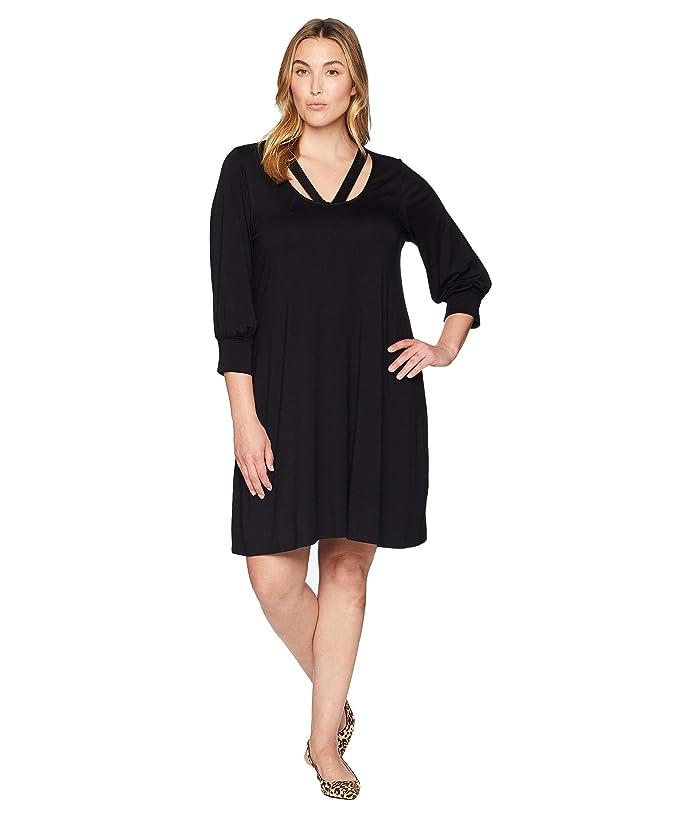 Karen Kane Plus Plus Size Cross-Front Taylor Dress | 6pm