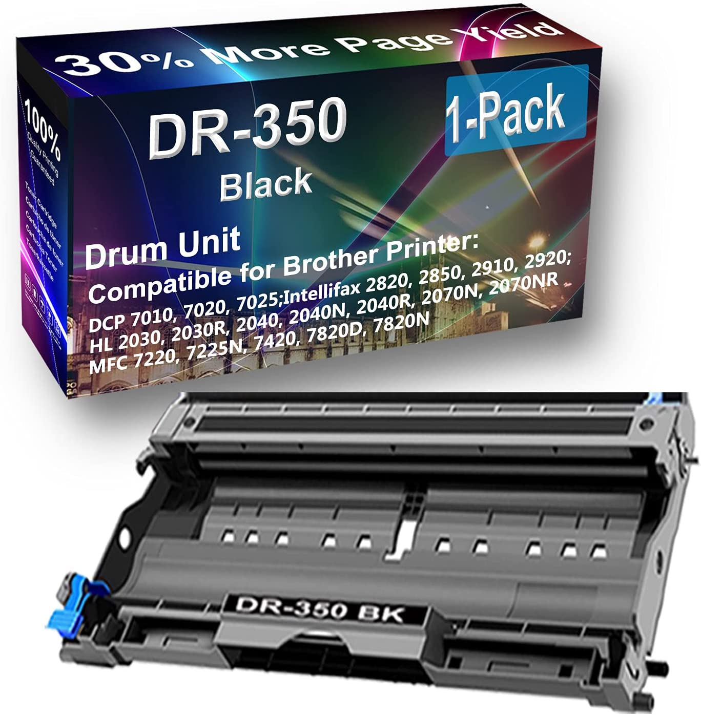 Large special price !! 1-Pack Black San Jose Mall Compatible Intellifax 2820 2850 HL- 2910 2920