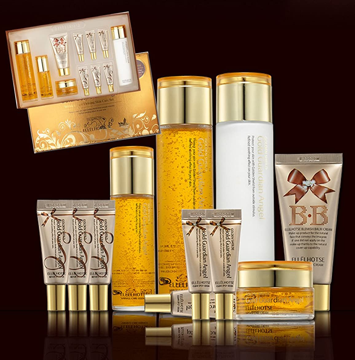 追加ジュニア知覚的[ELLELHOTSE]ゴールドファーミングスキンケア7set/弾力&柔軟性/コエンザイムQ-10/韓国の化粧品/Gold Firming Skin Care 7set/resilience & flexibility/coenzyme Q-10/Korean Cosmetics [並行輸入品]