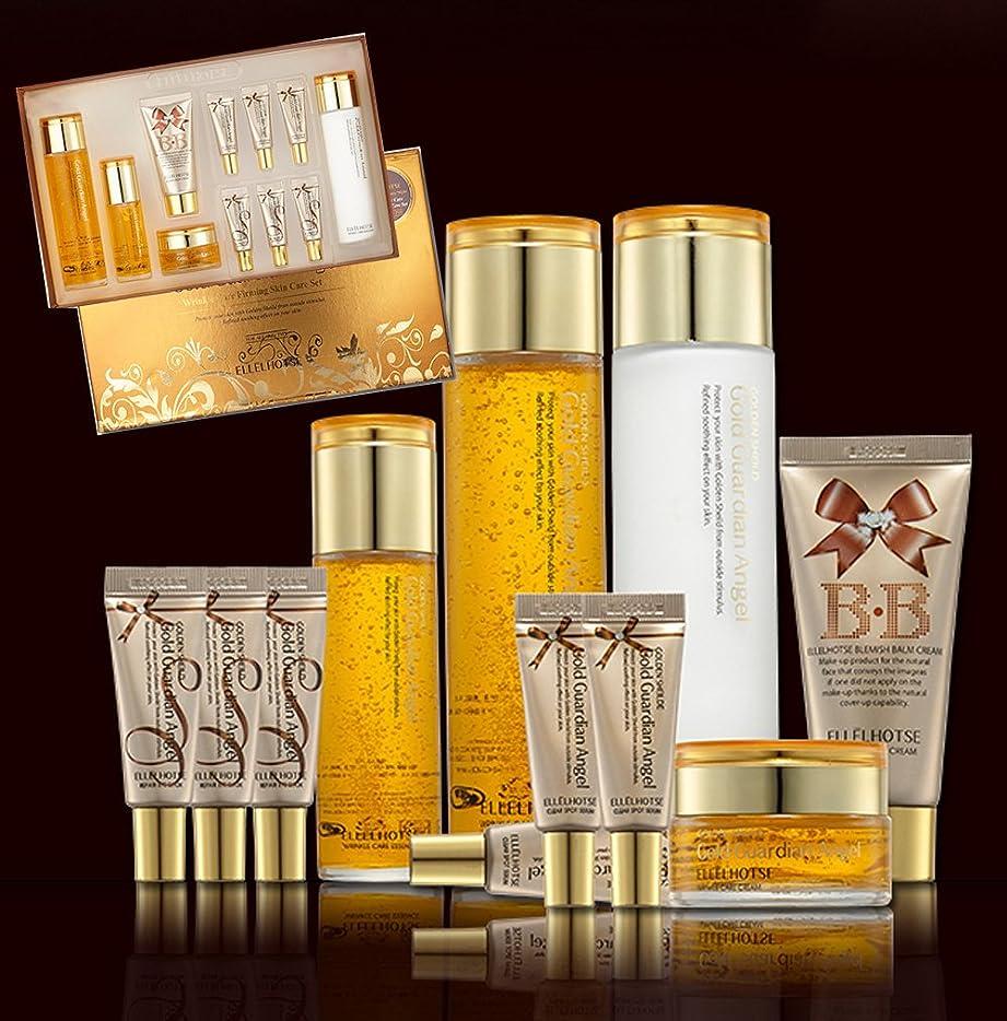 意欲ローズ誰[ELLELHOTSE]ゴールドファーミングスキンケア7set/弾力&柔軟性/コエンザイムQ-10/韓国の化粧品/Gold Firming Skin Care 7set/resilience & flexibility/coenzyme Q-10/Korean Cosmetics [並行輸入品]