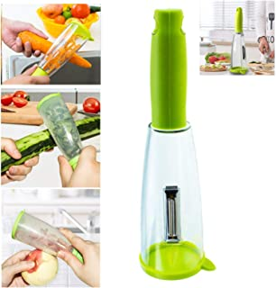 KEJITOUDM Multifunction Peelr With Storage Box Peelr Peeler Carrot Peeler Stainless Veggie Peele Kitchen Gadgets Best Sell...