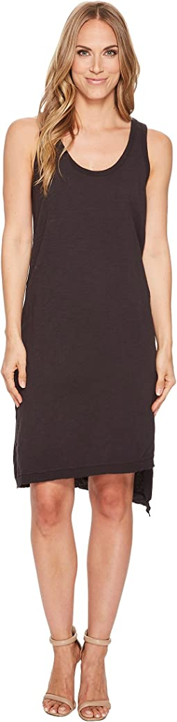 Dylan by True Grit - Luxe Cotton Slub Asymmetrical Slit Dress