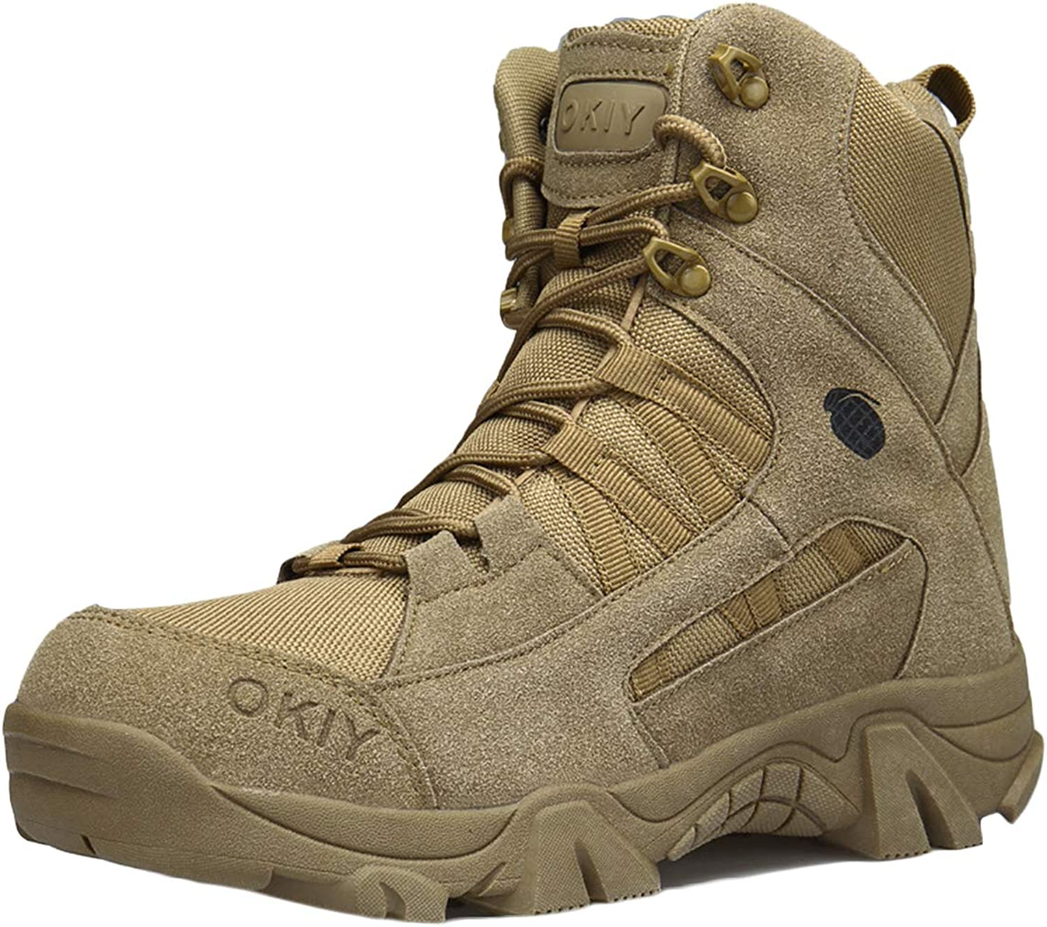 MERRYHE Men Tactical Boot Desert Combat Boot Military Boots Outdoor Sports Camping Hiking shoes