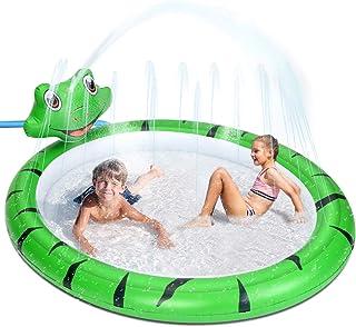 Splash Pad, Piscinas Hinchable Niños con Aspersor, Alfombrilla De Juego para Exteriores, Juguete de Agua, para Jardín, Pat...