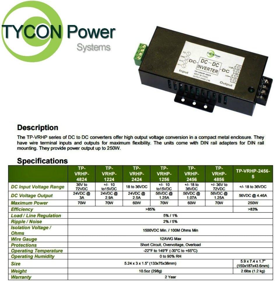 Tycon Systems TP-VRHP-1224 DC Voltage Converter - 10-24V DC Input