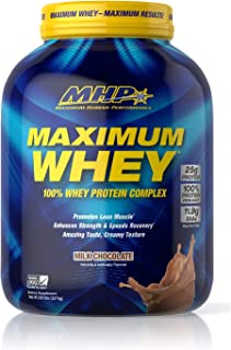 MHP Maximum Whey Protein, 25g Fast Acting Delicious Tasting Protein, Enhances Strength & Speeds Recovery, Milk Chocolate, 50 Servings