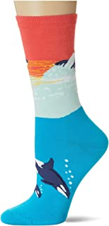 K. Bell Socks Women's Playful Sealife Novelty Fashion Crew Socks Casual Sock