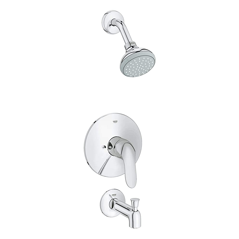 Grohe 35 049 Agira Tub and Shower Trim Package with Multi-Function Shower Head a, Starlight Chrome