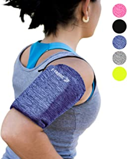 Phone Armband Sleeve: Best Running Sports Blue Arm Band Strap Holder Pouch Case for Exercise Workout Fits iPhone 5S SE 6 6S 7 8 Plus iPod Android Samsung Galaxy S5 S6 S7 S8 Note 5 Edge LG HTC (Small)