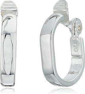 Anne Klein Silver Tone Clip Earrings