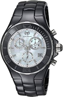 [テクノマリーン] TechnoMarine 腕時計 Technomarine Women's 'Cruise' Quartz Ceramic Casual Watch, Color:Black クォーツ TM-115316 レディース 【並行輸入品】