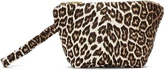 Luna Di Giorno Women's Leopard Collection 9 x 6 Inch Mini Beauty Case, Print Brown, One Size