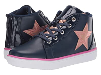 Hatley Kids Shining Star High Top Sneaker (Toddler/Little Kid) (Blue) Girl