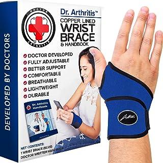 Doctor Developed Premium Wrist Support/Wrist Strap/Wrist Brace/Hand Support [Single] & Doctor Written Handbook— Suitable f...