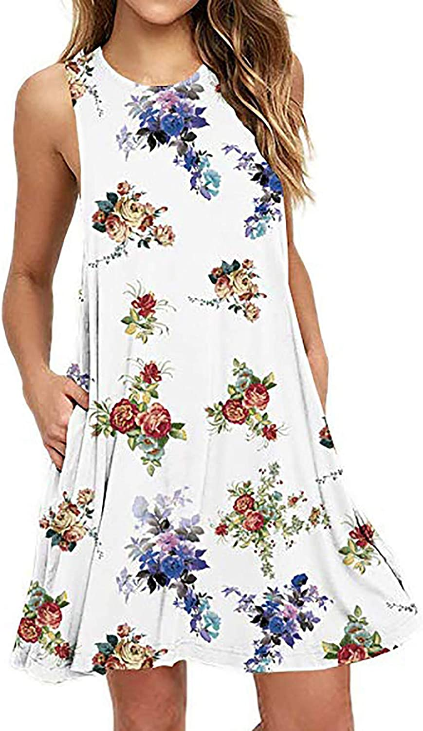 Womens Dress Casual O- Neck Summer Fresh OFFicial site Leaf Floral Credence Sleev Print