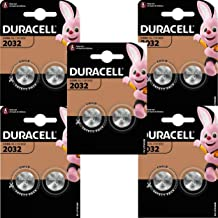 Duracell CR2032 3V Lithium Coin Cell Battery, Black - Pack of 10