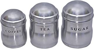 Kuber Industries Stainless Steel Container Set- 700, 500 & 250 ML, 3 Pieces, Silver, standard (CTLTC012236)