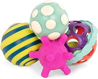B. toys – Ball-a-balloos– Textured Balls Set– of 4 Balls For Infants 6 M+