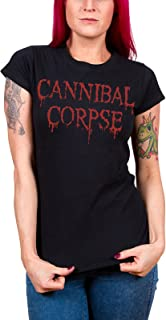 Cannibal Corpse T Shirt Dripping Logo Official Womens Black Junior Fit