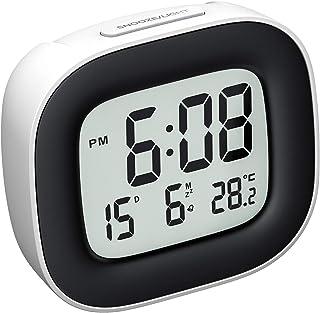 Mpow Reloj Despertador Digital con Luz de Noche, Reloj de Viaje con Pilas, Zumbador Alarma, Fecha, Temperatura, Función Sn...