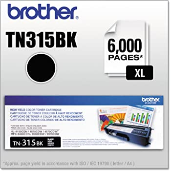 Brother TN315BK Toner Cartridge (Black, 1-Pack)