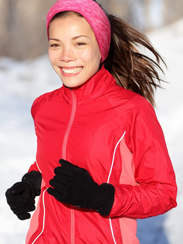 4 Pieces Ear Warmer Headband Winter Fleece Headband Non-slip Ear Muffs for Cold Weather Outdoor Activities