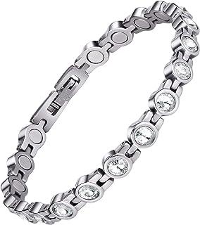 Jeroot Energetix Magnetische armband voor dames, voor artritis, roestvrij staal, magneet