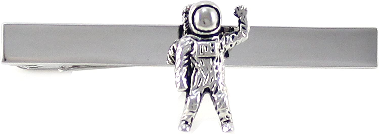 Max 44% OFF MENDEPOT Antique Silver Tone Astronaut Clip Pilot Space Ranking TOP11 Tie