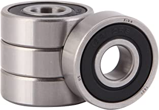 XiKe 4 Pack 1621-2RS Bearings 1/2 x 1-3/8 x 7/16 Inch, Stable Performance and Cost-Effective, Double Seal and Pre-Lubricated, Deep Groove Ball Bearings