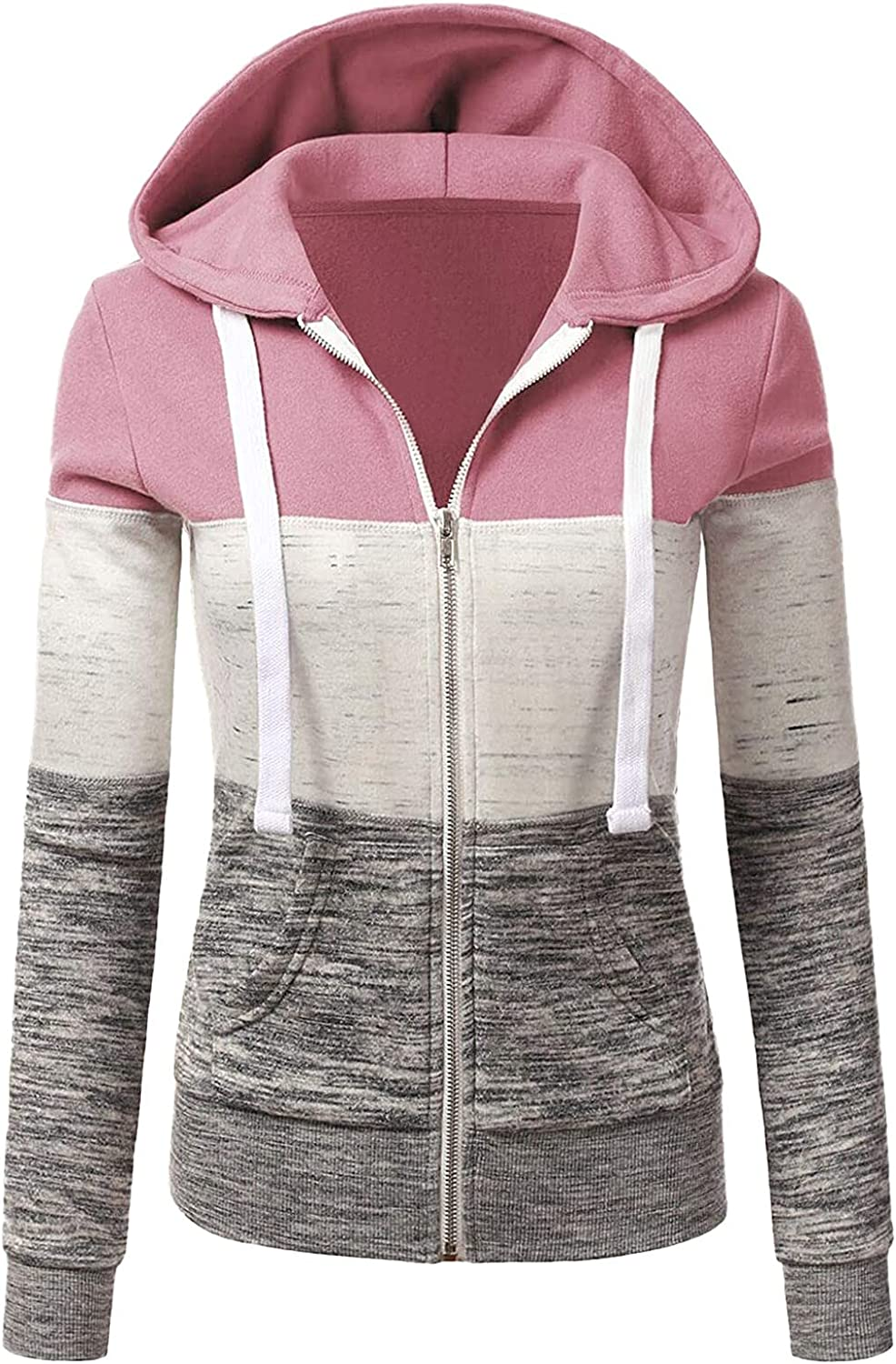 Hoodies Sales for sale Max 48% OFF for Womens Solid Color Swea Pullover Full-Zip Drawstring