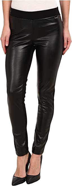 Calvin Klein - Pleather Front Leggings