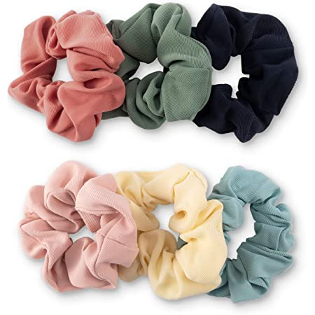 Solid Color Scrunchies Smooth Fabric Hair Scrunchies