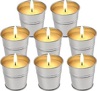 شمع های LucaSng Citronella Outdoor Indoor، 2 OZ x 8 Pack شمع های معطر ساخته شده به صورت فله و ساخته شده از روغن ضروری لیموترش موم سویا طبیعی برای حیاط حیاط حیاط حیاط خانه بالکن