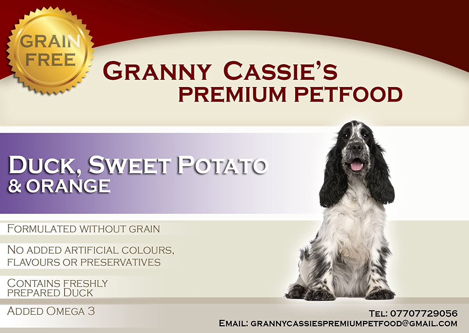 Duck Sweet Potato and orange Grain Free Dry Dog Food (15kg)