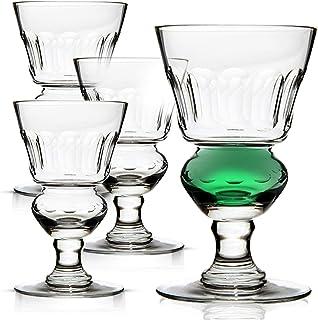 Amehla Original Absinthe Glass: Set of 4 Glasses - Vintage Reservoir Pontarlier Style