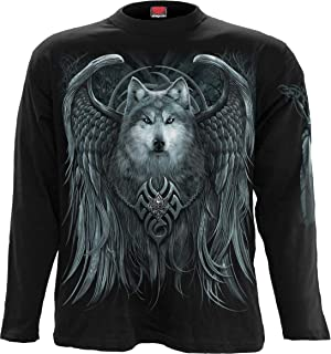 Mens - Wolf Spirit - Longsleeve T-Shirt Black