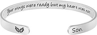 أساور تذكارية من MEMGIFT للنساء، هدايا التعاطف مع فقدان أبي أم ابنة ابنة الابن التذكارية التكاوي تشجيع مجوهرات محفورة تذكر...