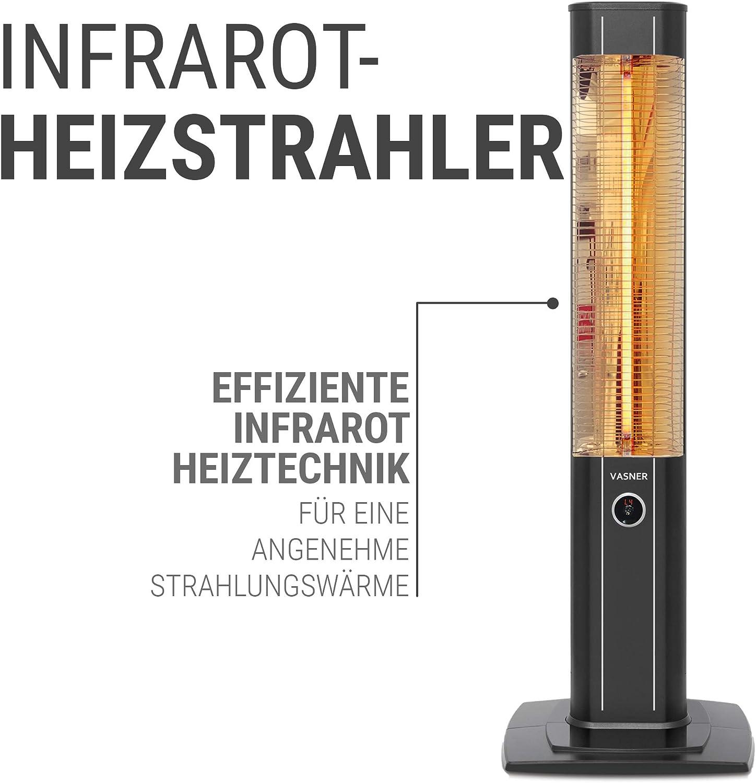 VASNER StandLine 20R Infrarot Heizstrahler Standgerät 2000 Watt 20 ...