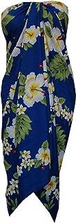 Alvish Sarong Hibiscus Flower Beach Swimsuit Wrap Bikini Cover up Pareo one Size