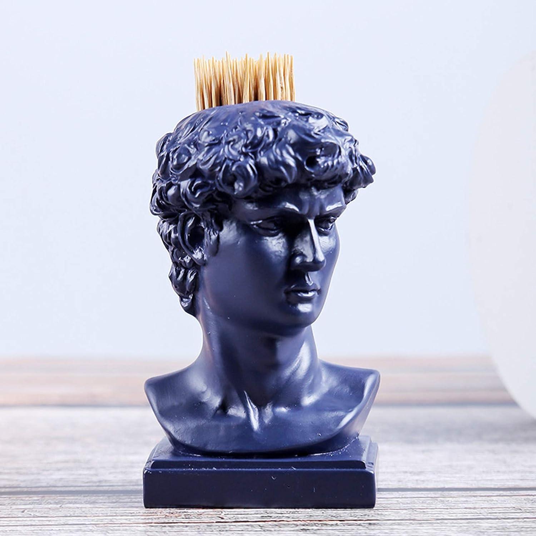 Toothpick Holder Resin Decorative Ornament David Max 43% OFF Arlington Mall Mini Pe Statue