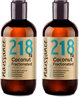 comprar comparacion Naissance Aceite Vegetal de Coco Fraccionado n. º 218 – 500ml (2x 250ml) - Puro, natural, vegano, sin hexano, no OGM - Ide...