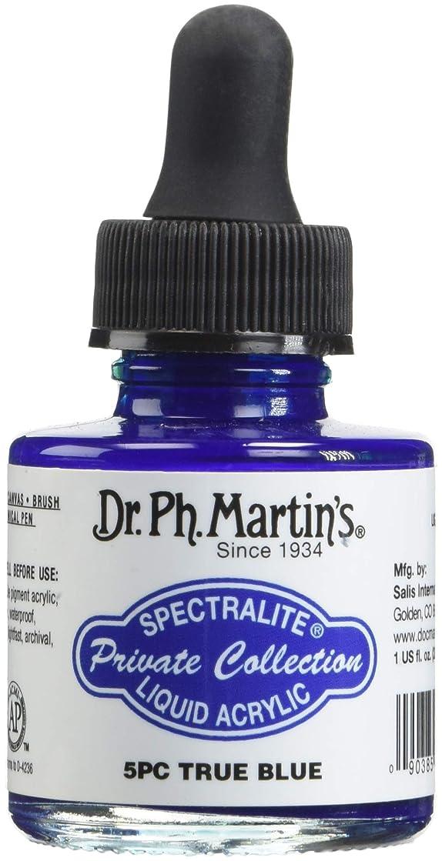 Dr. Ph. Martin's SPEC10OZS5PC Spectralite Private Collection Liquid Acrylics (5PC) Arcylic Paint Bottle, 1.0 oz, True Blue