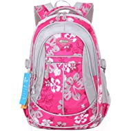 JiaYou Girl Flower Printed Primary Junior High University School Bag Bookbag Backpack(Style A...