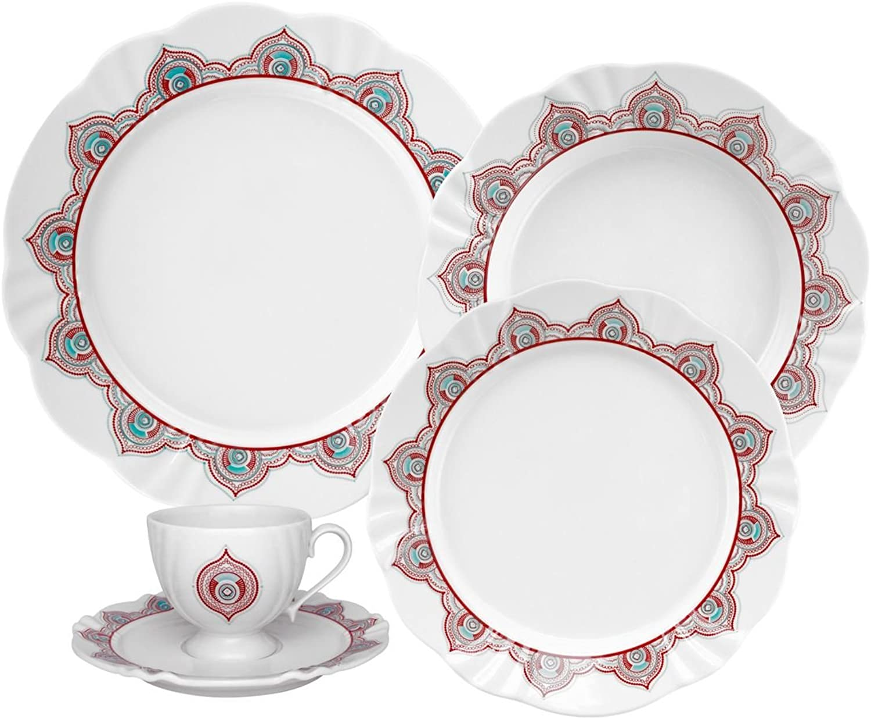 Oxford 20 Piece Talisman Collection Soleil Dinnerware Set