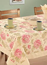 Swayam Libra Printed Cotton Six Seater Table Sheet - Cream (RDS16-60x90-3612)