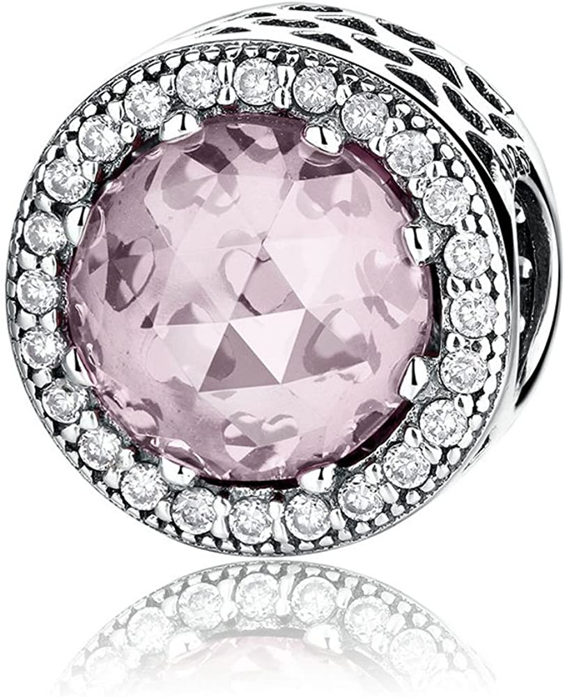 The Kiss Super Special SALE held Radiant Hearts with Blush and 925 Crystal Clear CZ Pink Free shipping / New